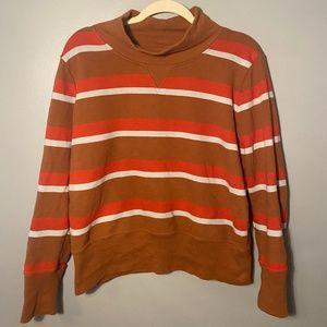 Madewell Striped Mock Neck Sweater (L)